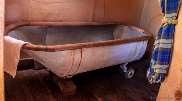 And I though the bathtub at Estabrook was old...this one has wheels!