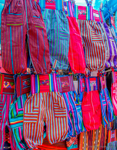 clothes at chichicastenango market