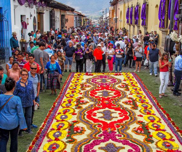 alfombra at Antigua's Easter celebration