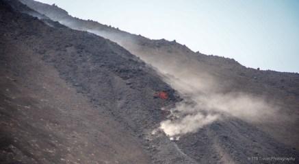 lava flowing down volcano in Antigua