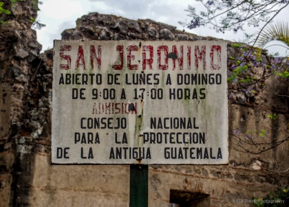 sign at Hermitage and School of San Jerónimo