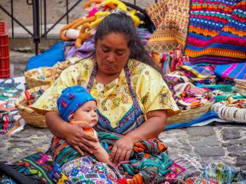 mother and child in Antigua
