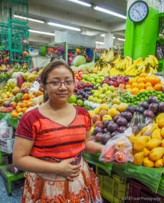 fruit stand at Guatemala City Market