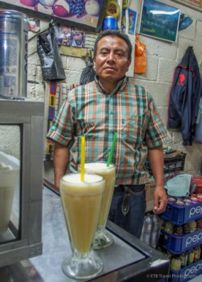 juice from the juice stand in Guatemala City