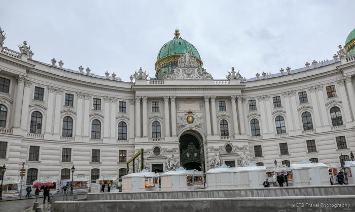 michaelerplatz and hofburg complex in Vienna
