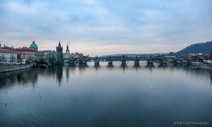 View of the Charles Bridge in Prague