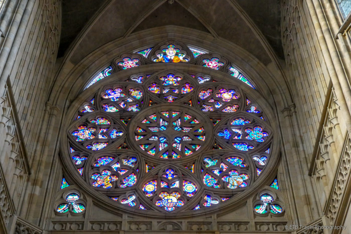 Rose Window in St. Vitus Church in Prague Castle