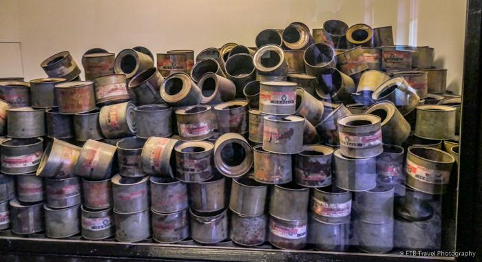 gas cans at Auschwitz