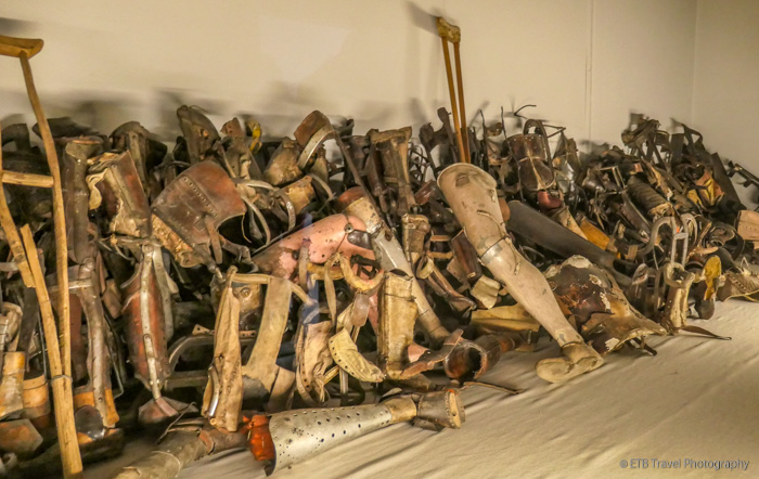 prosthetics at Auschwitz
