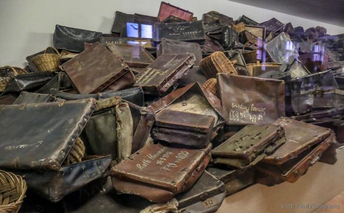 luggage at Auschwitz