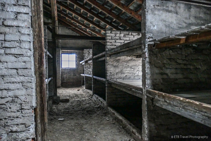 bunks at Auschwitz