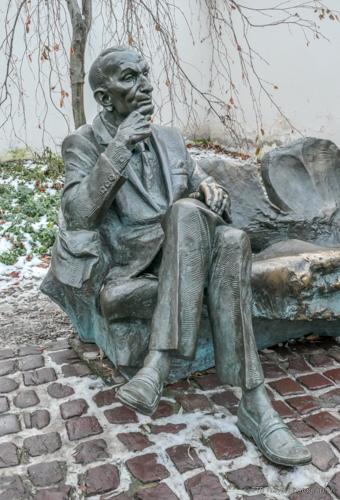 Statue of Jan Karski in Krakow's Jewish Quarter