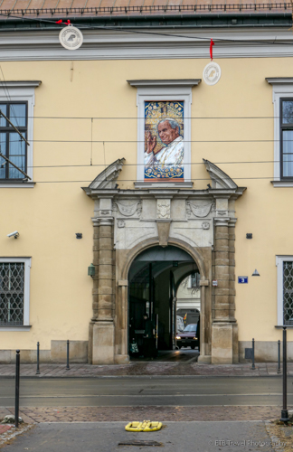 Bishop's Palace and Papal Window in Krakow's Old Town