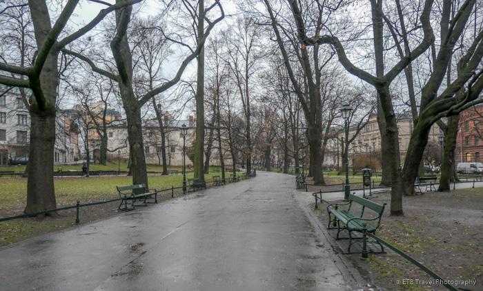 Wonderful park that encircles Krakow's Old Town