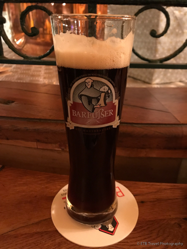 Home made beer at Barfüsser in Nuremberg