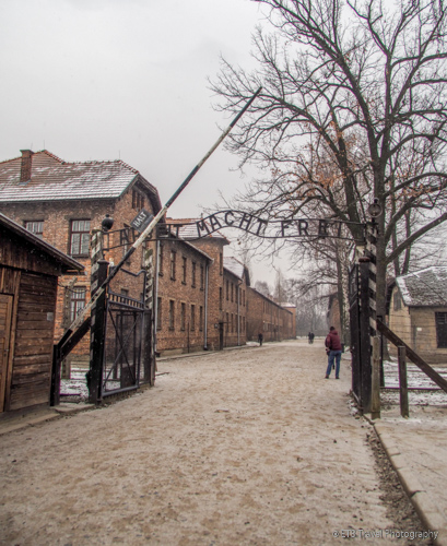 Main gate at Auschwitz