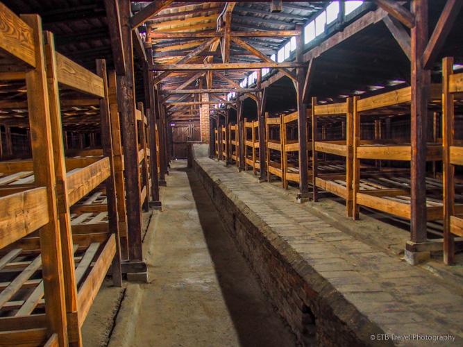 bunks at Auschwitz