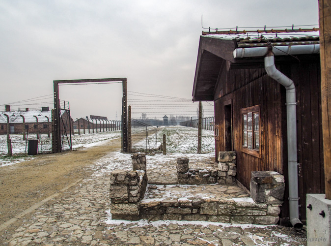 selection process area at Auschwitz