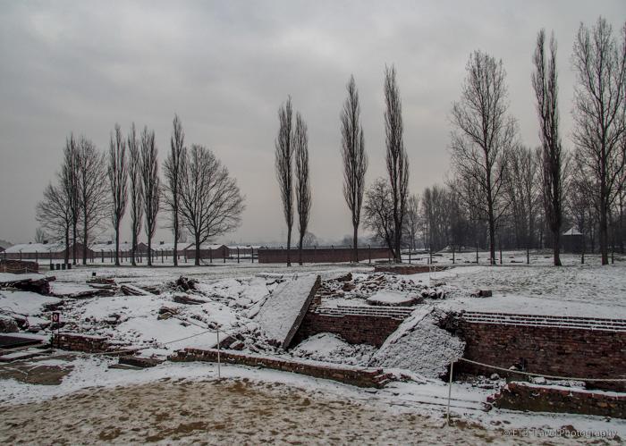 destroyed gas chamber at Auschwitz