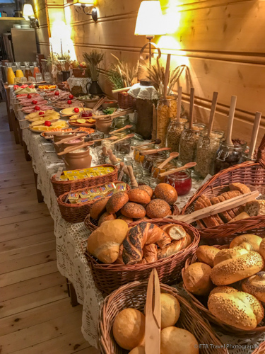 Breakfast buffet at Betmanowski in Krakow's Old Town