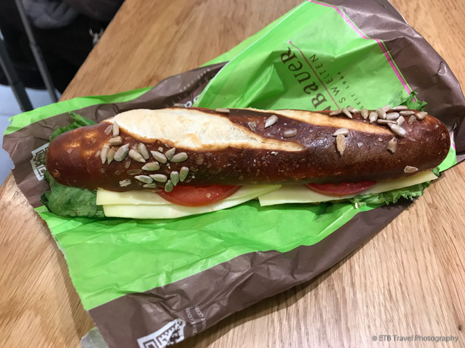 Sandwich at the train station in Nuremberg