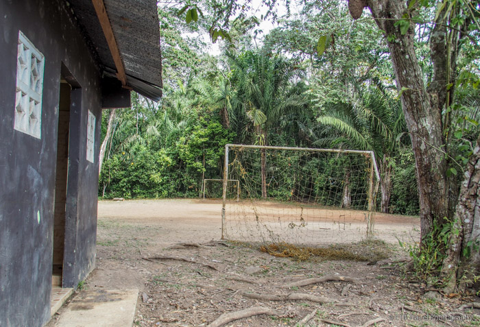 soccer field at indian village in panama city