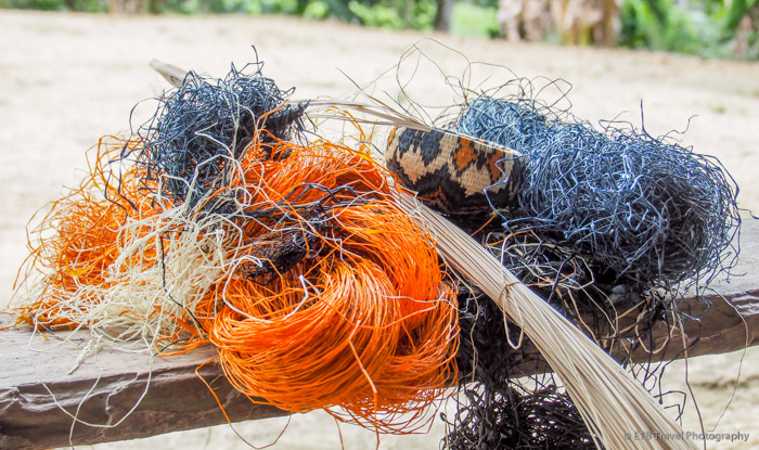basket weaving materials at indian village near panama city