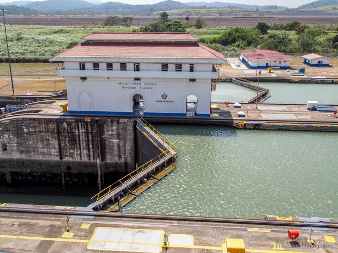 Miraflores Locks on the Panama Canal