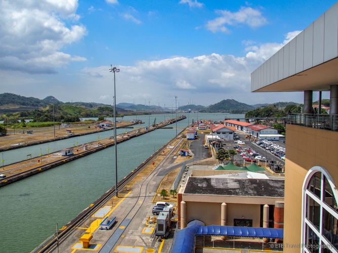 View to North from Miraflores Locks on Panama Canal