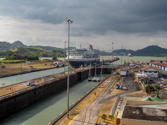 Parallel flights of the Miraflores Locks on the Panama Canal