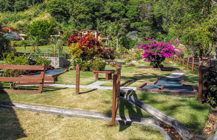 putt putt golf at hotel escondido in boquete
