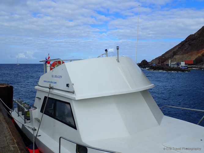 SCUBA diving on Sea Saba boat