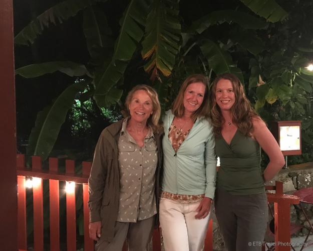 Rootie, Beth and Julie in Saba