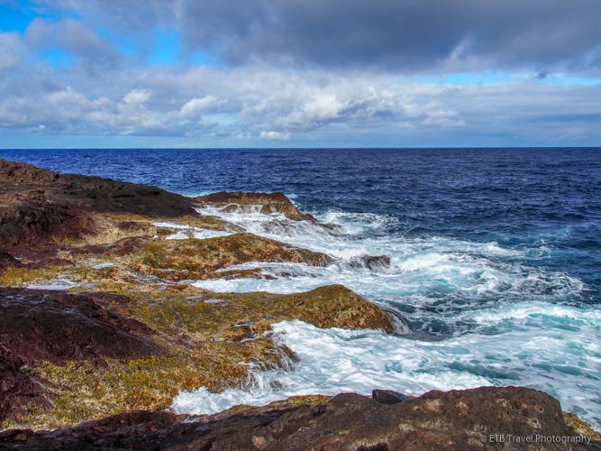 rocky shore in Saba