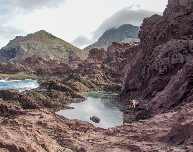 tide pools in saba