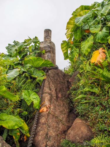 pilon on Mt. Scenery trail in Saba