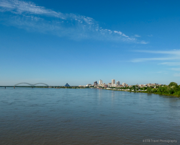 view of memphis from Big River Crossing