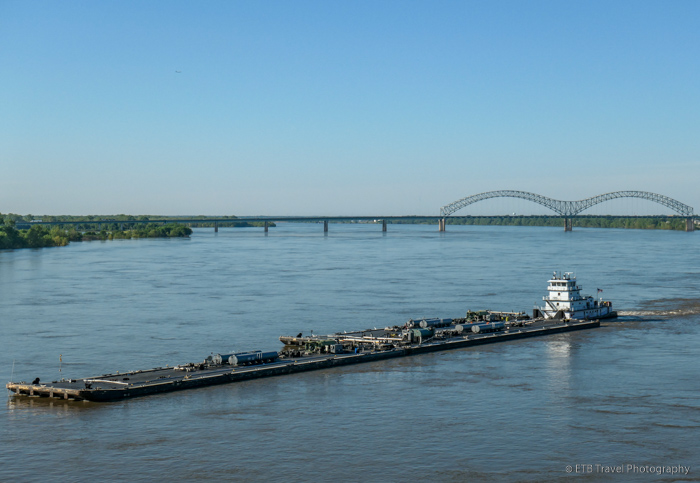 view of barge from Big River Crossing