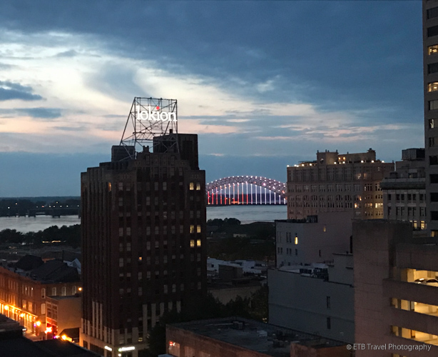 View from the Rooftop at Peabody in Memphis