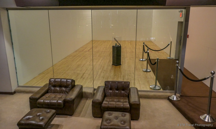 racquetball court at Graceland