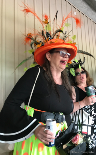 fun hat at the 145th Kentucky Derby