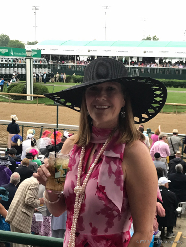 dressed up at the 145th Kentucky Derby
