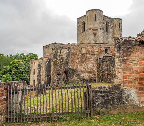 church ruins in Oradour-sur-glane