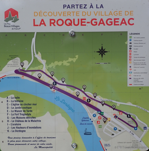 map of La Roque-Gageac