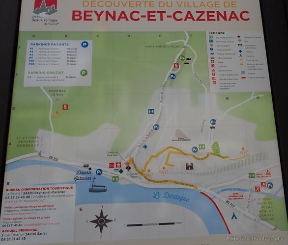 map of beynac