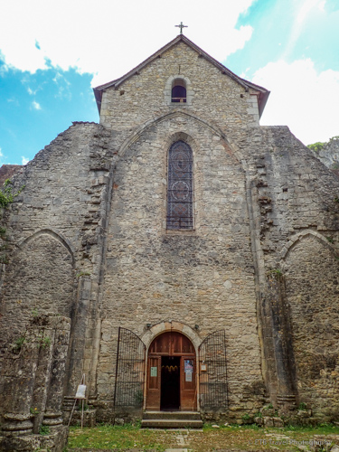 St. Pierre Abbey in cele valley of lot department in France
