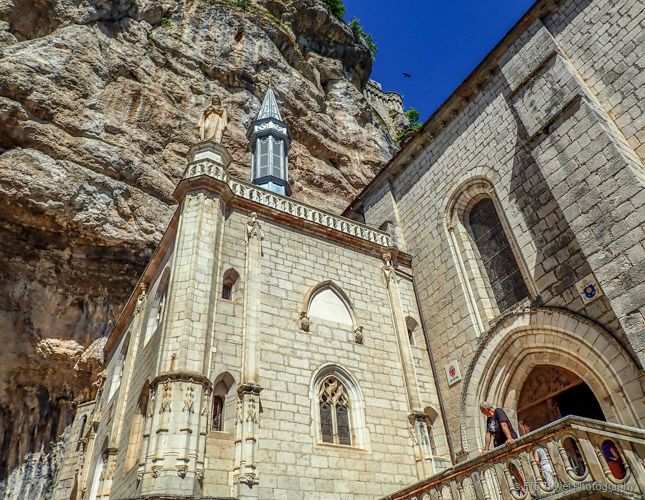 view of religious complex in rocamadour
