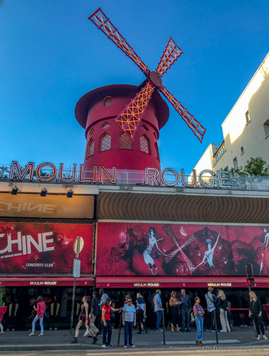 outside Moulin Rouge