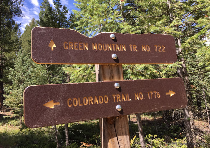 Green Mountain Trail Sign