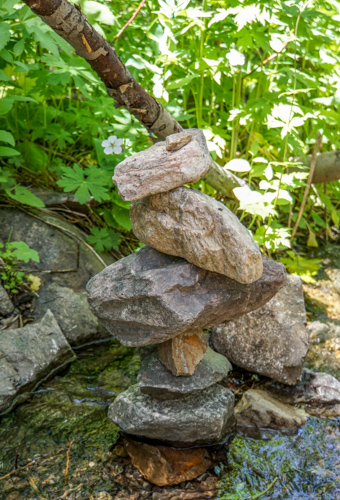 cairn in the creek